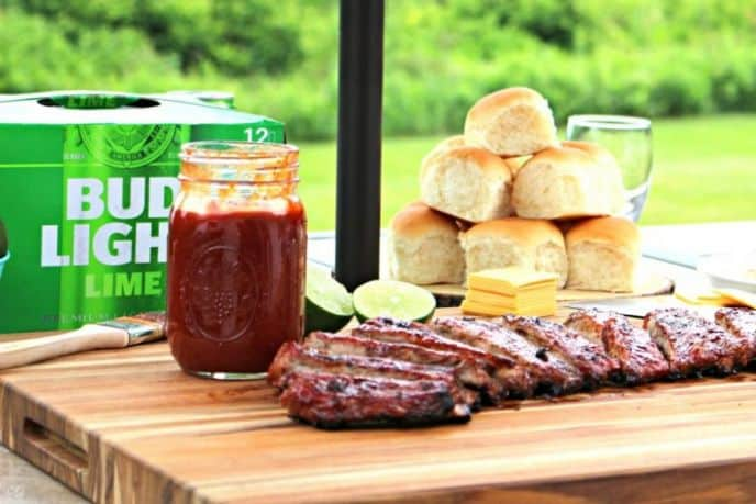 BBQ rib recipe with lime barbecue sauce