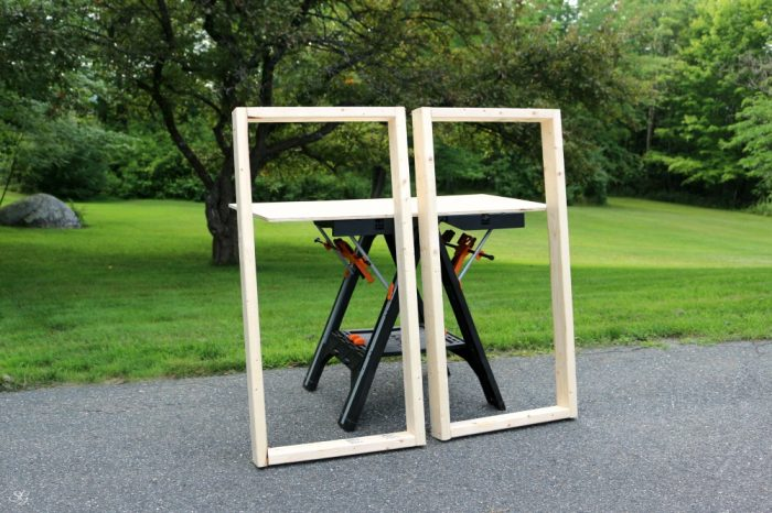 how to make cornhole board frames