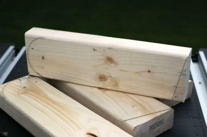 how to make cornhole board legs