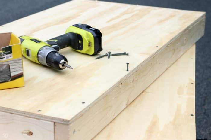 Attaching plywood to frame