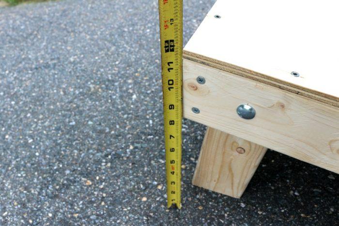 Regulation cornhole board height DIY cornhole boards.