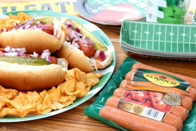 Eckrich Smoked Sausage Links for Football Tailgating Food
