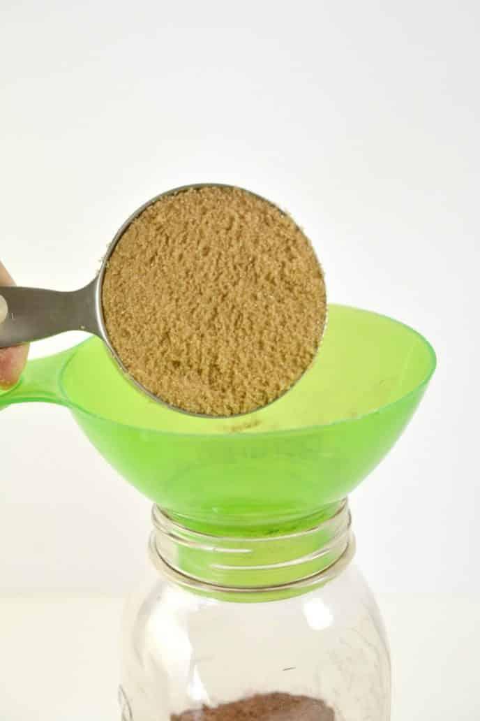 Brown sugar for mason jar cookies