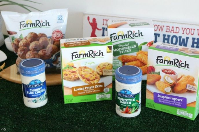 Farm Rich Snacks and Litehouse Dressings and Dips, Football Game Day Food