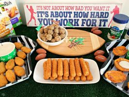 Football Food for Game Day! Snacks for football homegating made easy. CLICK to see how we're celebrating the big game!