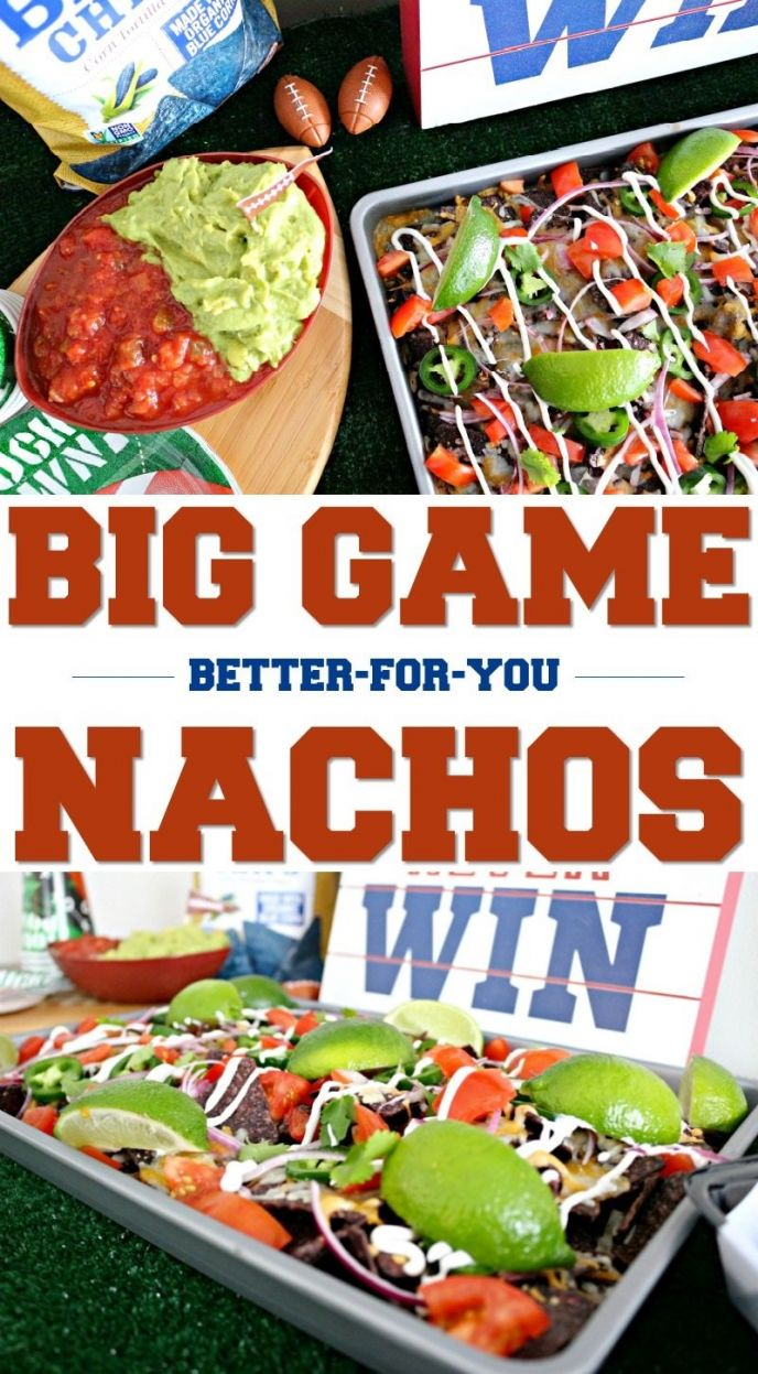 Sheet Pan Nachos for Football Parties! CLICK to get this recipe for delicious nachos made using Garden of Eatin'® Blue Corn Tortilla Chips! #FindNutritiousHere #FoodGoals #delish #nachos #cheesy #recipe #football #homegating #tailgating #footballfood #footballparty #partyfood #easyrecipe #gametime #food #foodie #easyrecipes