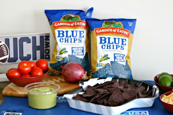 Ingredients for Healthy Nachos - Cheese Covered Nachos for Homegating