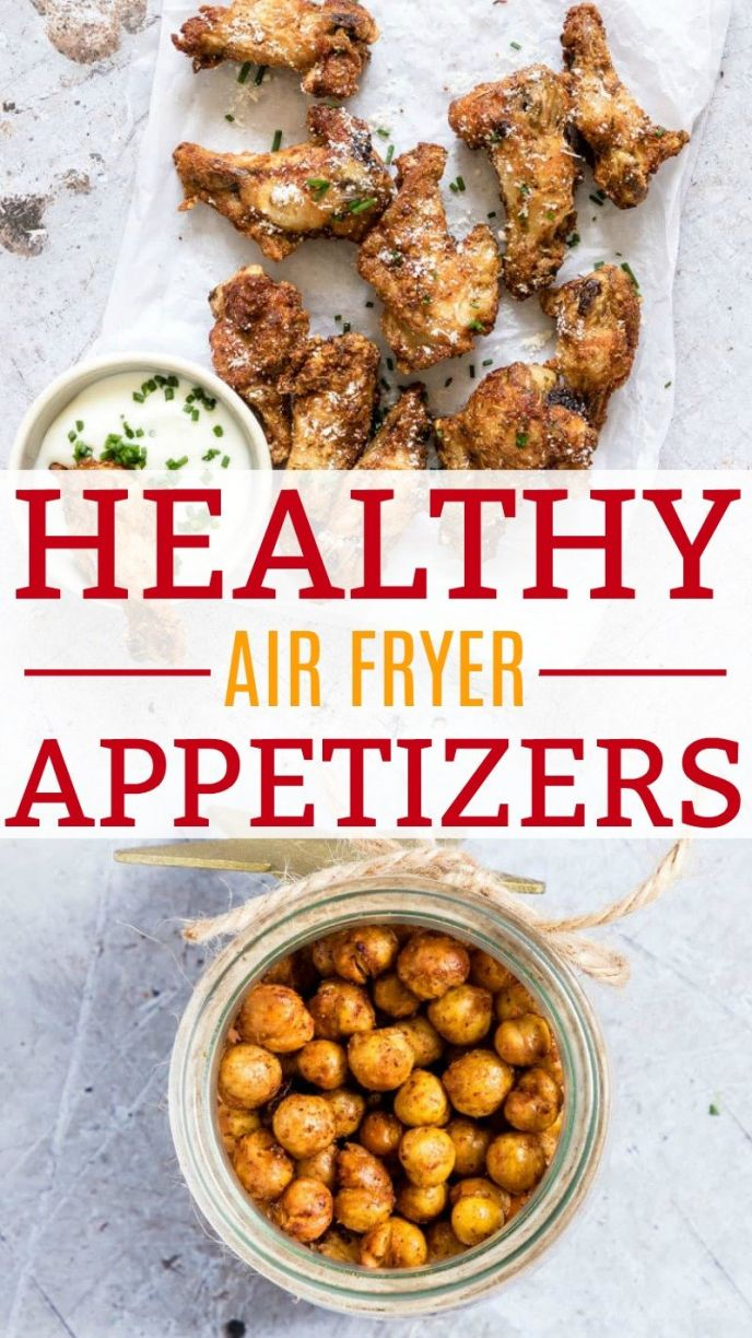 Healthy Air Fryer Appetizer Recipes! Grab these healthy and better for your air fryer appetizer recipes for your next tailgating party, gathering, or family dinner night! These easy air fryer appetizer meal starters are healthier alternatives, including healthier chicken wings galore! CLICK to check out these Air Fryer Recipes now! #airfryer #recipes #chicken #chickpeas #chickenwings #food #foodie #foods #cooking #fryer #airfried #friedfood #fried #yummy #nomnom #eat