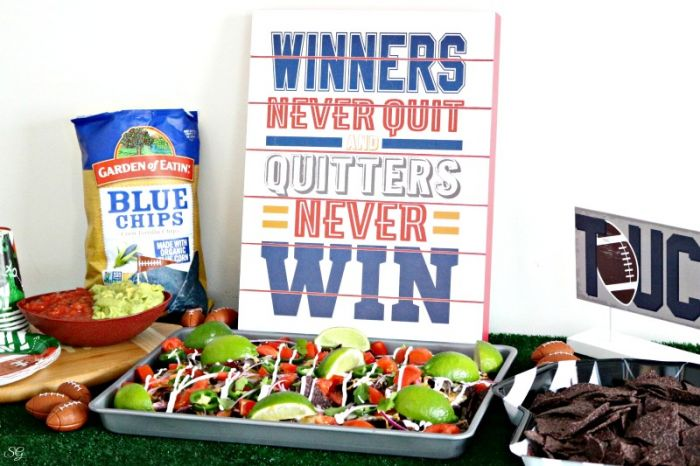 Sheet Pan Nachos - Football Party Food - Game Day Snacks! Check out this fun game day football party snack idea and make your celebration delicious!