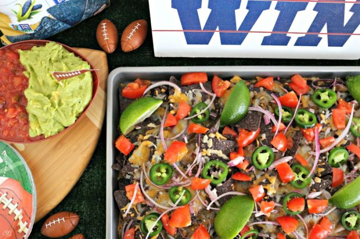 Sheet pan nachos fresh out of the oven!
