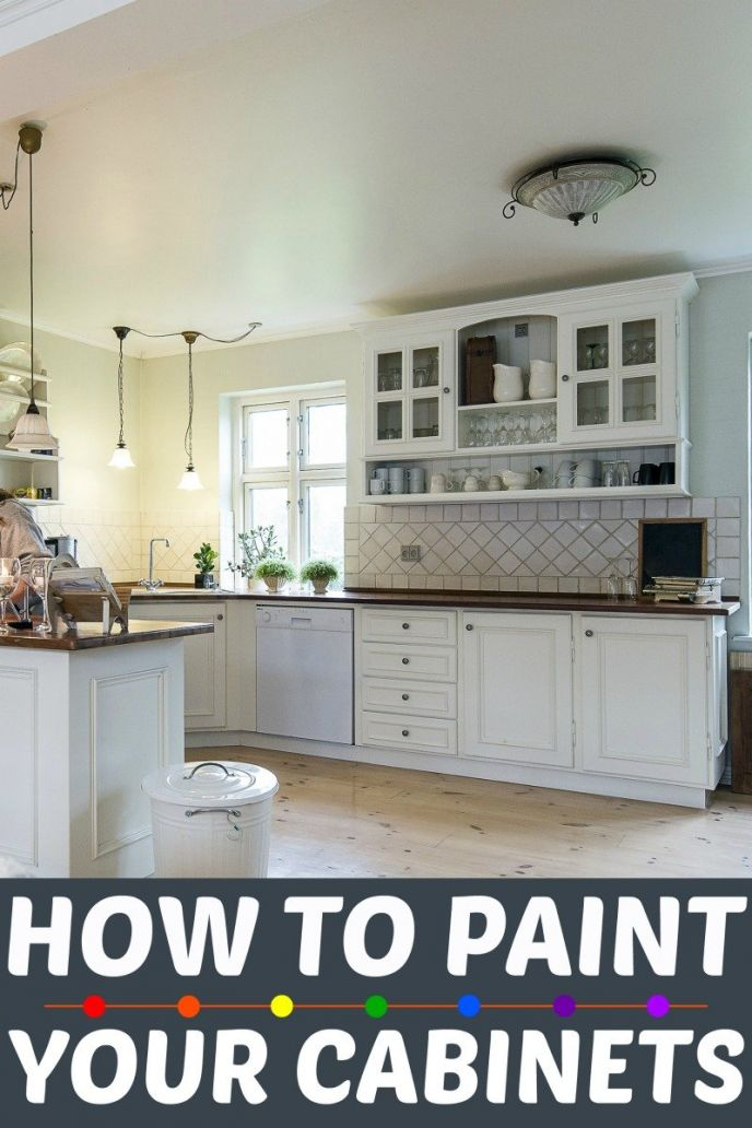 How To Paint Kitchen Cabinets • Scrappy Geek