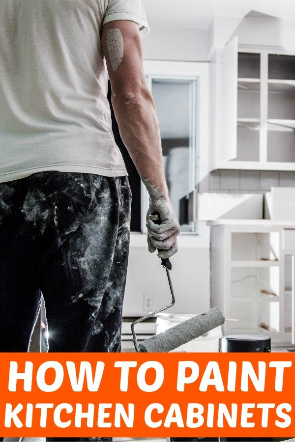 How to paint kitchen cabinets. Learn how to paint your cabinets white and brighten up your space in just a couple of days!