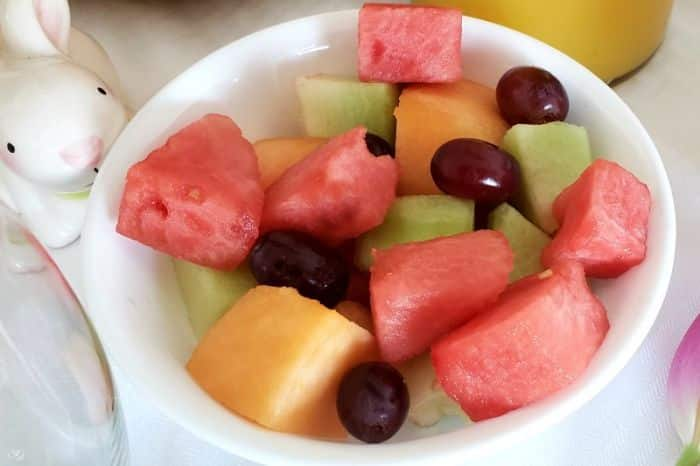 Mixed melons and grapes for brunch buffet. #brunch #buffet #recpes #delicious