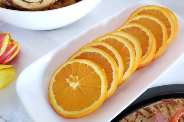 Slices of orange for brunch. #brunch #delish #yum #recipes