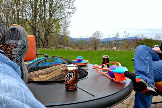 Memories with A&W Root Beer - Backyard games, fire pit, enjoying life!