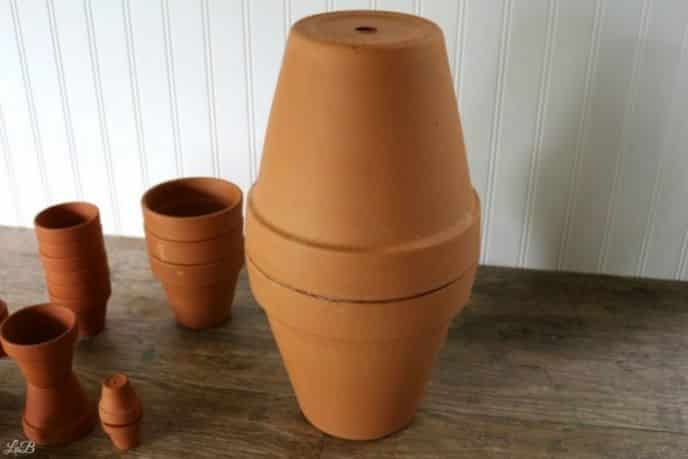 Clay pot garden sculpture ideas