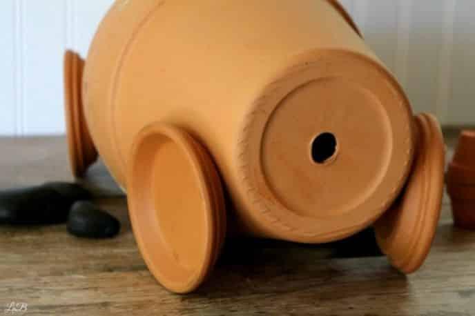 Wheels for clay pot race car
