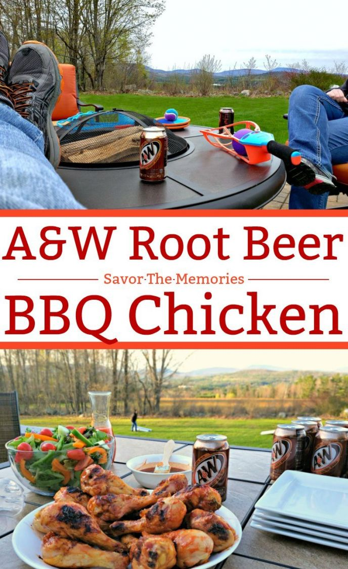 Savor the memories with this delicious A&W Root Beer BBQ Chicken recipe! Host a party, play some games and chow down on this easy and tasty barbecue chicken recipe!