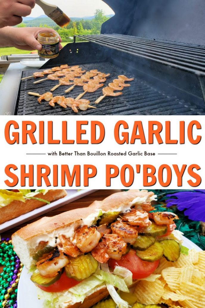 Garlic Grilled Shrimp Po Boys Recipe