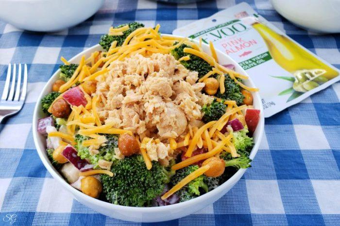 Pink Salmon and Broccoli Salad