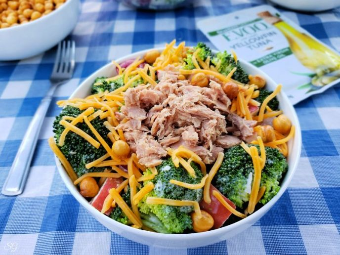 Broccoli Salad with Tuna or Salmon