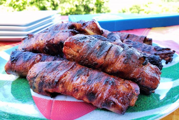 Bacon Wrapped Ribs Recipe - Ribs Wrapped in Bacon and Cooked on The BBQ Grill Fast
