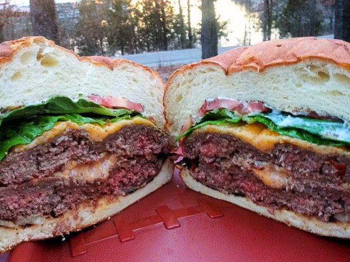 Colossal Campfire Burger with Cheese