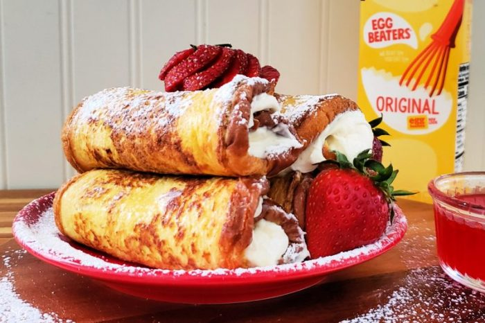 French Toast Roll-Up Dessert Recipe #minustheshell