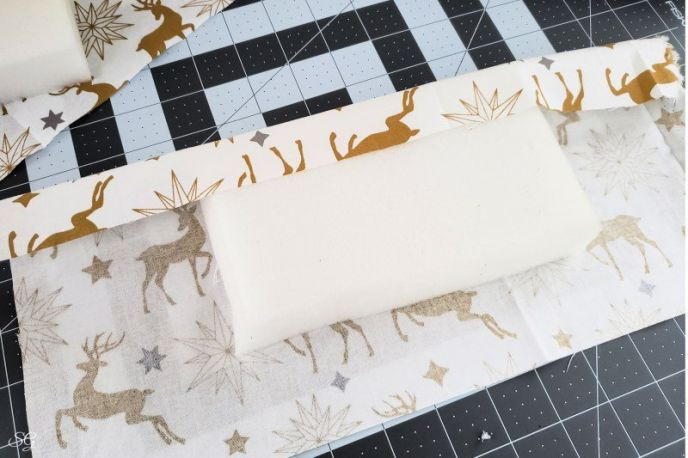 Attaching fabric to foam for a DIY pen box gift