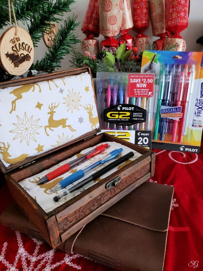 Pen gift wrapping idea DIY pen gift box