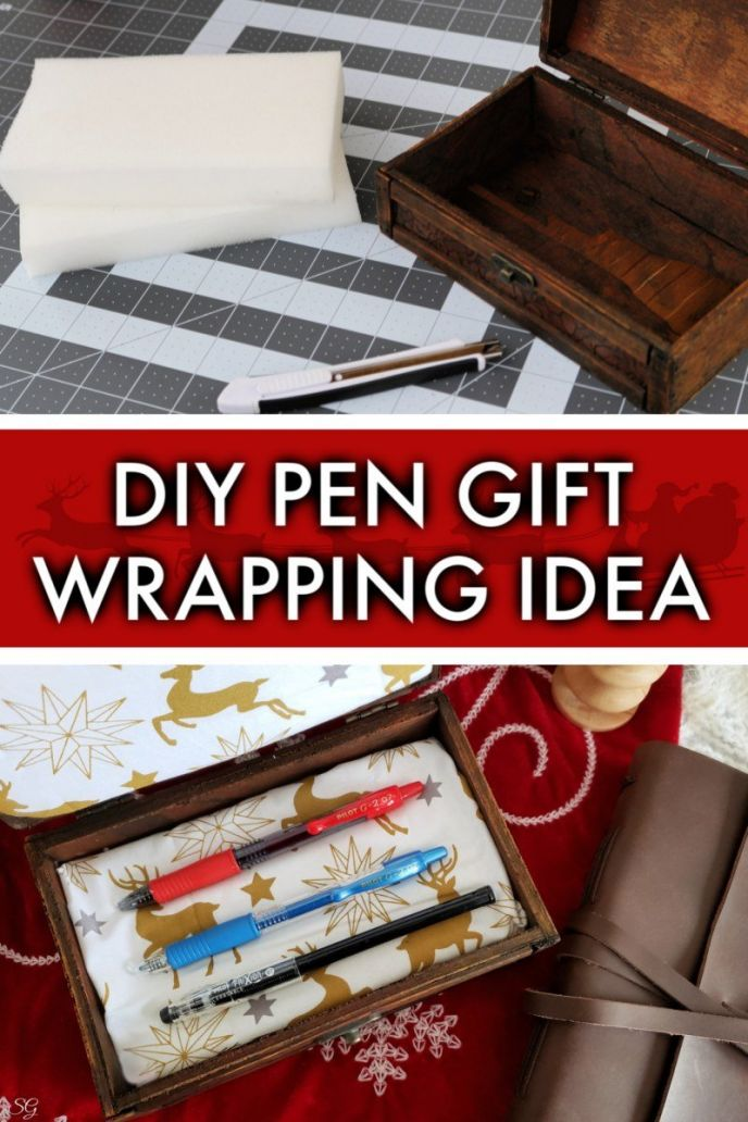 DIY Pen Holder Gift Box - Pen Gift Wrapping Idea #SeasonOfWriting