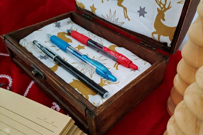 A DIY pen gift box for wrapping gift pens