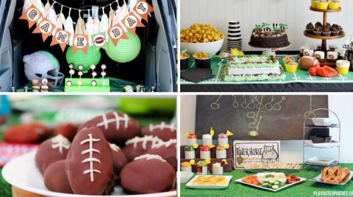 Super Bowl Party Ideas - Food, Party Tables, Tailgating, Decorations