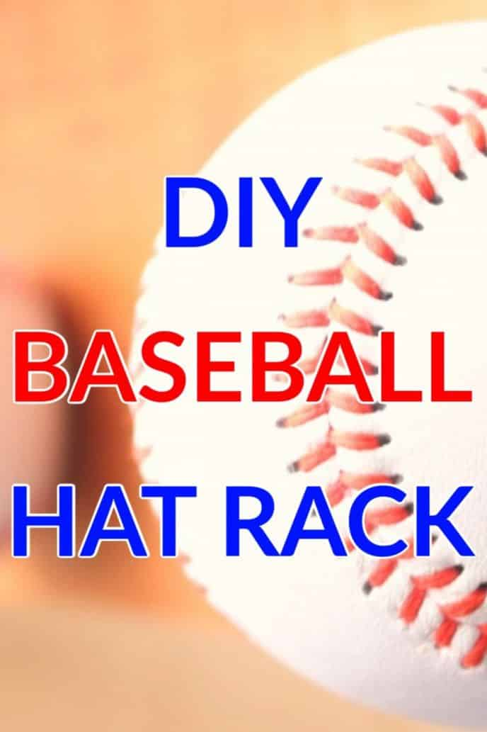 Baseball hat rack made with real baseballs