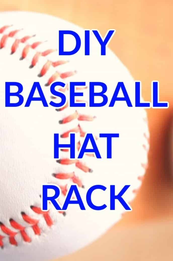 Display for baseball hats, DIY baseball hat rack.