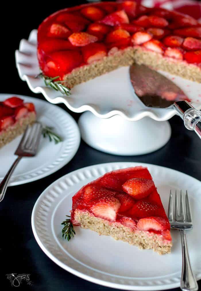 Gluten free strawberry oatmeal cake recipe
