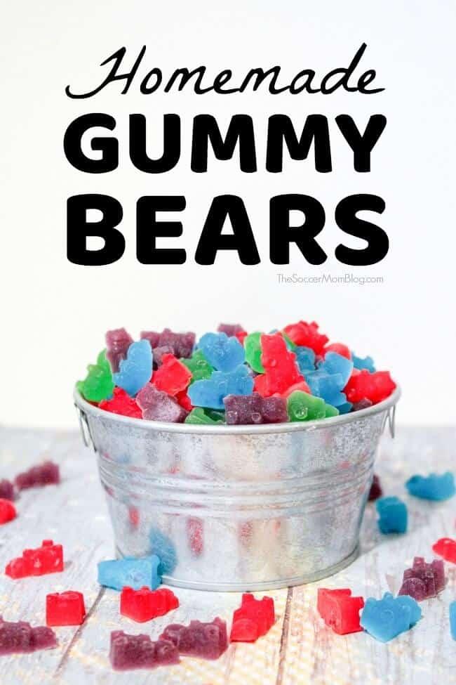 homemade gummy bears with jello