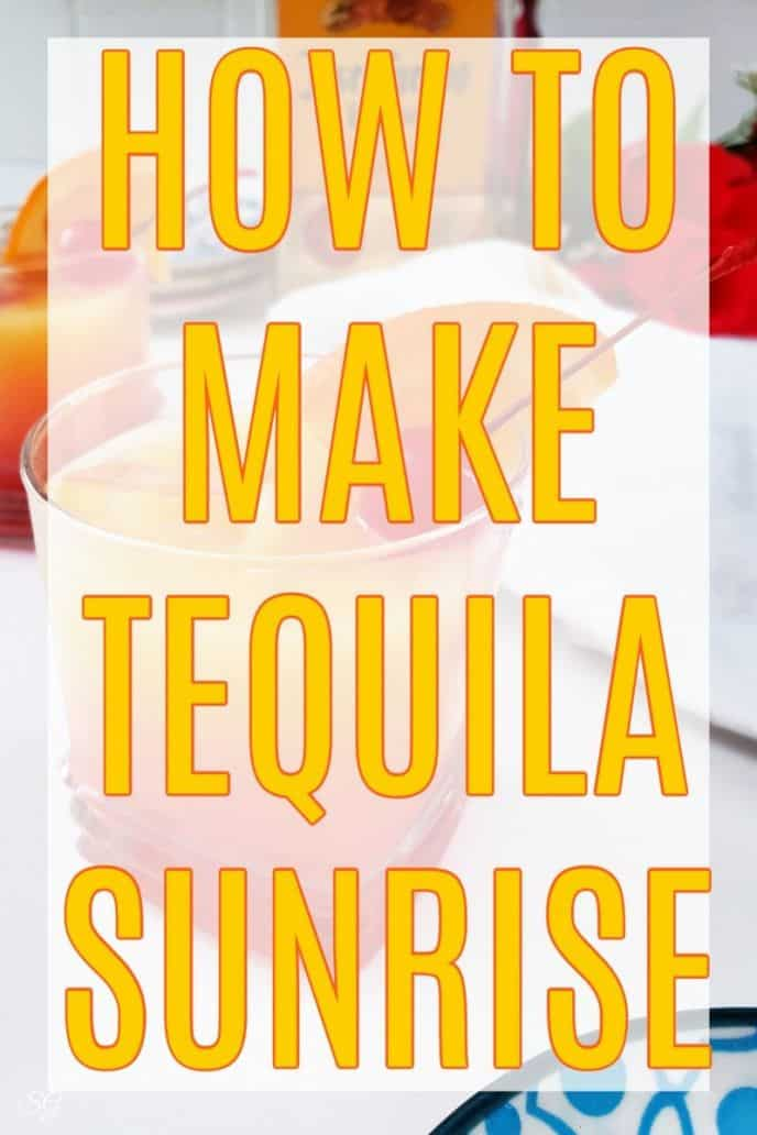 How To Make Tequila Sunrise! Learn how to make this easy Tequila Sunrise drink recipe! #tequila #tequilasunrise #cocktail #recipe #tequilasunrisedrink #tequilasunrisecocktail #tequiladrinks