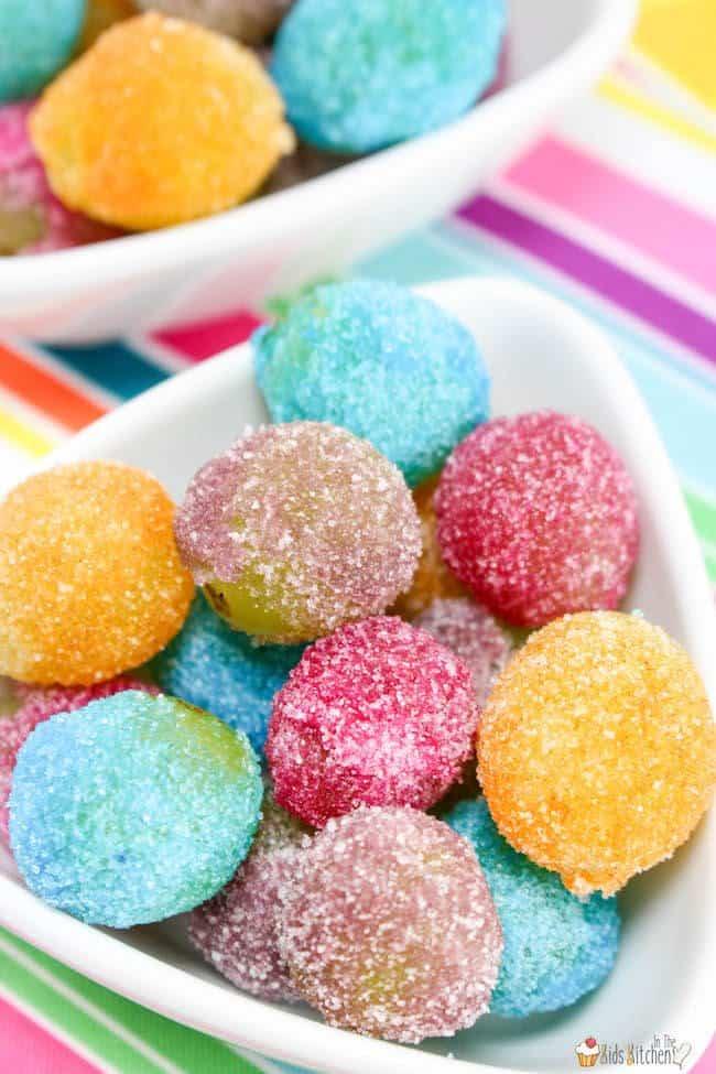 rainbow jello frosted grapes dessert recipe