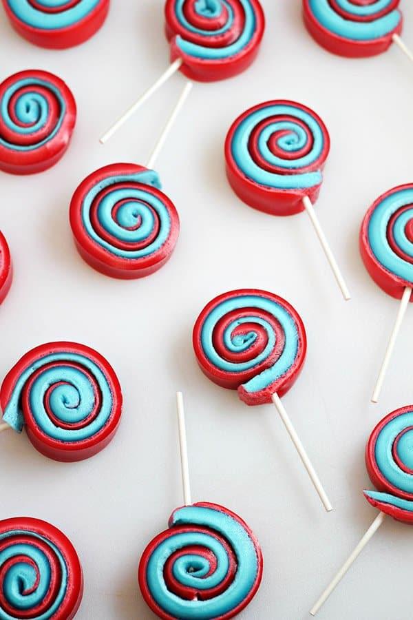 marshmallow pinwheels made with jello