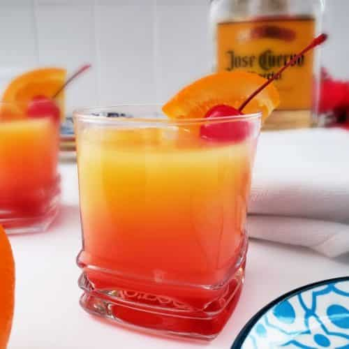 How to make tequila sunrise drink