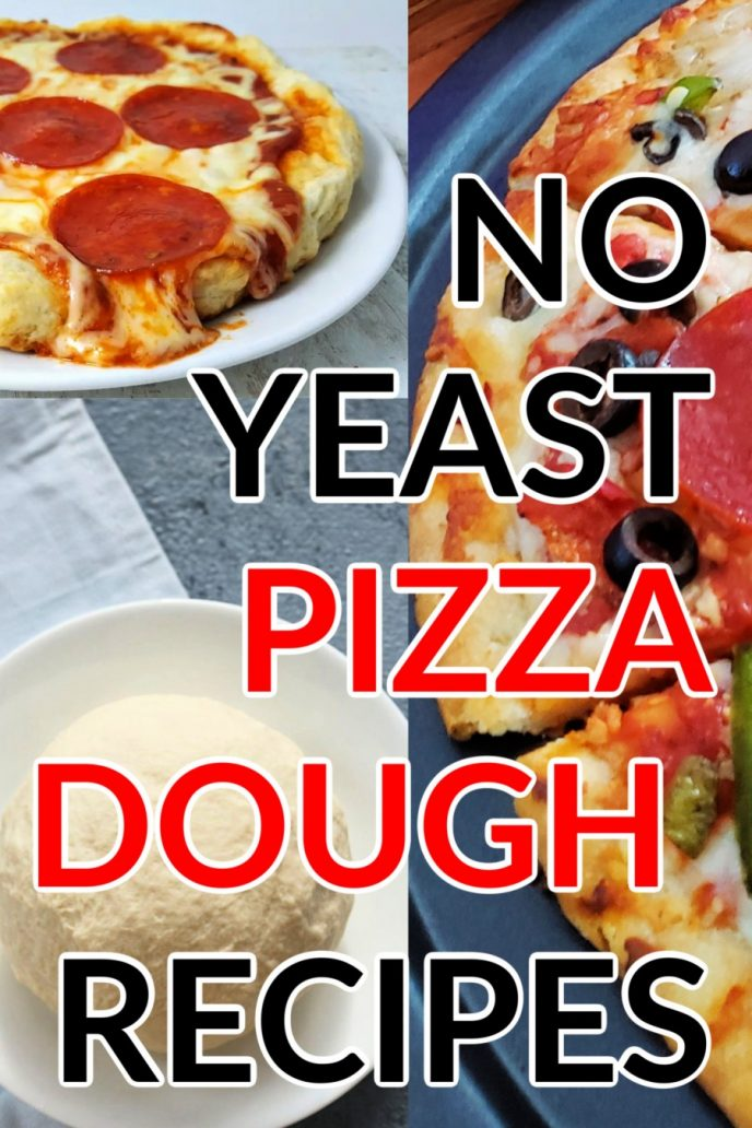 Pizza dough with no yeast. Easy no yeast pizza recipes you can make in minutes!