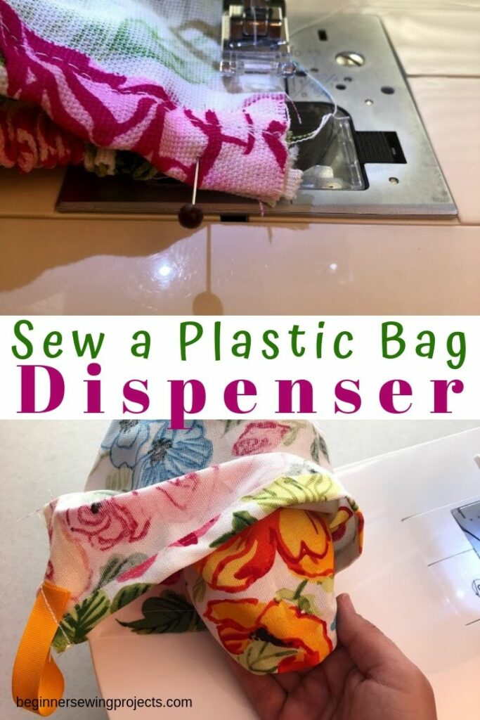 Plastic bag holder and dispenser sewing DIY project