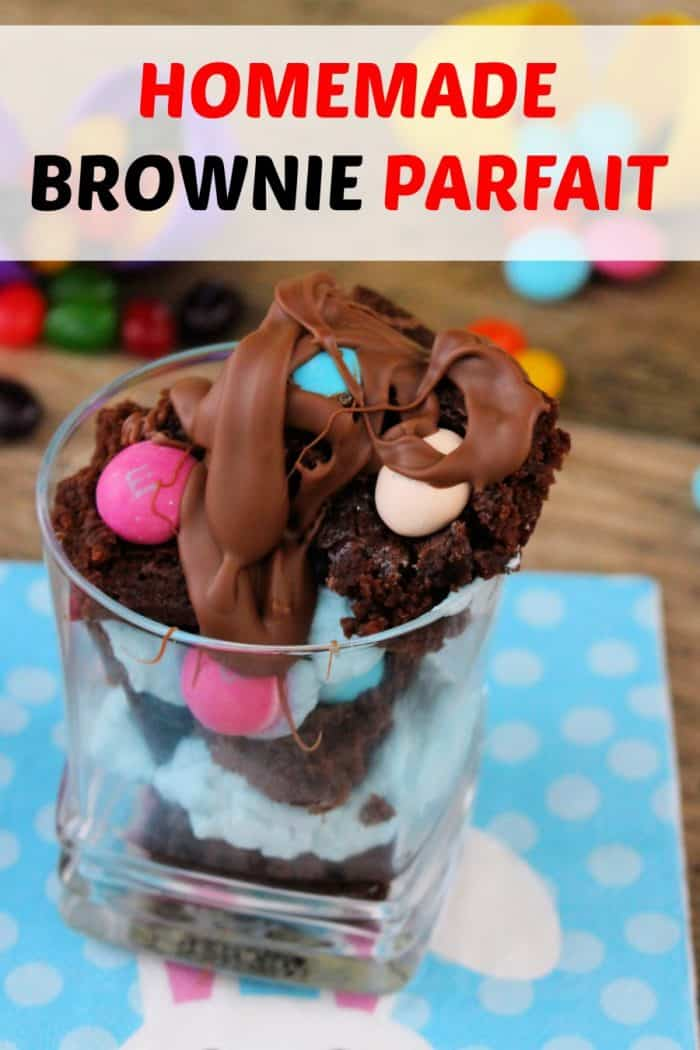 Homemade brownie recipe, Easter dessert parfaits