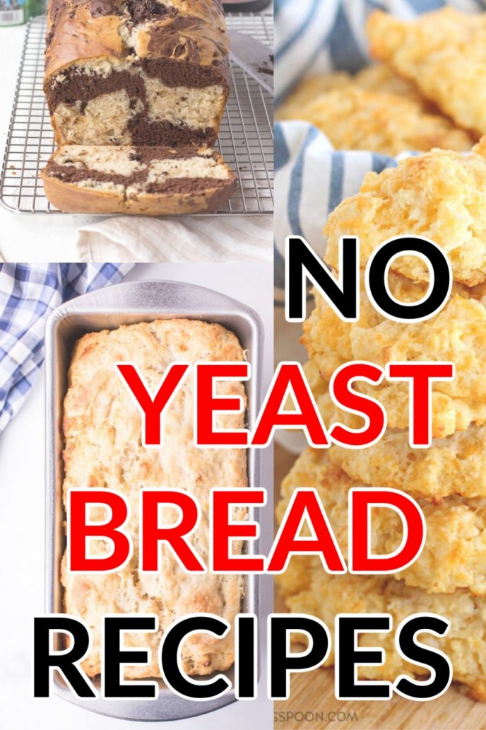Make no yeast bread at home with these recipes