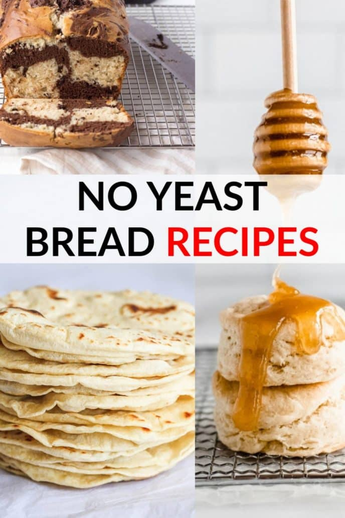 No yeast bread, easy bread recipes without yeast!