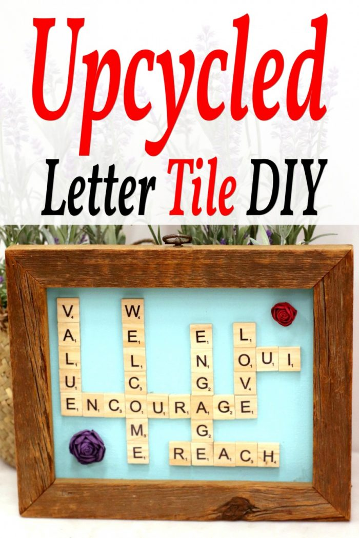 Words With Friends Upcycled Letter Tile DIY Gift Idea
