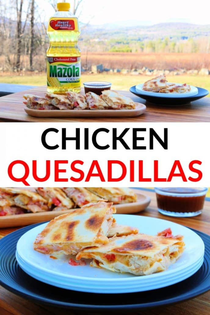Chicken Quesadillas - grilled BBQ recipe with homemade marinade.