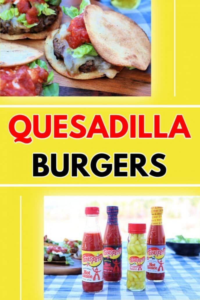 Quesadilla Burger Recipe - Easy grilled quesadilla burgers.