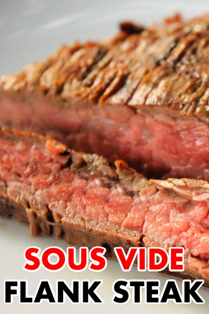 Flank Steak Sous Vide - learn how to cook flank steak with your sous vide cooker.